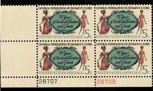 Scott 1316 5¢ General Federation of Women's Clubs MNH Free Shipping!!