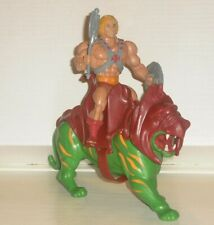 MOTU 1981 He Man (Mexico) and Battle Cat Lot Complete (USA Weapons) Mattel