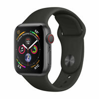 Apple Watch Series 4 GPS + Cellular 44mm Gray Aluminum Case Black Sport - Good