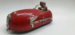 Tin Toy Wind Up Lindstrom Skeeter Bug, Bumper Car no 8 1930s -Working- (s18)