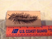 Stampscapes Feather Rubber Stamp Wood Mounted 1995