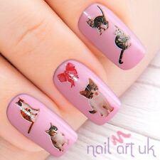 Gato Gatito de agua etiqueta Nail Stickers Tattoo Art 01.03.004