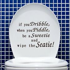 Vinyl Toilet Seat Decals Bathroom Decor Wall Sticker Words Quote Art Wallpaper