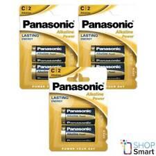 6 PANASONIC ALKALINE POWER C LR14 BATTERIES BLISTER 1.5V BABY R14 MN1400 AM2 E93