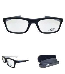 Oakley OX 8081 PLANK 2.0 01 Satin Black Clear 51 Designer glasses optical Boxed