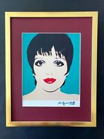ANDY WARHOL AWESOME 1984 SIGNED LIZA MINELLI PRINT MATTED TO BE FRAMED AT11 X 14