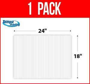 """1, Single Pack WHITE BLANK 18"""" x 24"""" Plastic Corrugated 4mm Political Yard Sign"""