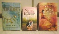 A CHANGE OF PLANS/ LOVE BY DESIGN/ BORN O'HURLEY/ NORA ROBERTS W/ FREE SHIPPING!