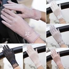Women Wrist Lace Gloves UV-proof Driving Gloves Wedding Bridal Short Gloves