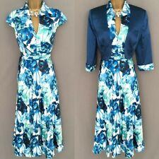 * VENI INFANTINO Dress Jacket Suit Size 12 Blue Mother Of The Bride BNWT