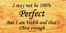 HANDMADE PLAQUES SHABBY CHIC FUNNY WOODEN SIGN GIFT PRESENT 100% PERFECT WELSH
