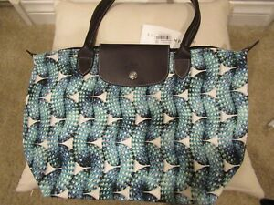 LONG CHAMP - HANDBAG - SURF CITY - MED SHOULDER - LIMITED EDITION - BLUE - NWT