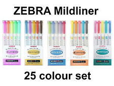Zebra WKT7-5C-NC Mildliner Highlighters - 5 Pieces