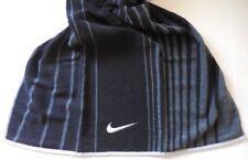 "Nike Jacquard Striped Towel Black Size 48"" X 24"" = 120cm X 60cm New"