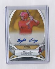 TAYLOR LINDSEY 2010 BOWMAN STERLING GOLD REFRACTOR AUTO ROOKIE RC #15/50