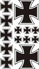 13 x Eisernes Kreuz Aufkleber Sticker IRON CROSS Kreutz  Auto Tuning TOP KULT .