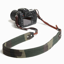 Ona Presidio Handcrafted Waxed Canvas and Leather Camera Straps (Camo)