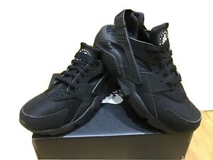 Mens Nike Air Huarache Trainers Size 8 Triple Black VGC