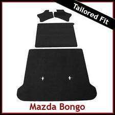 MAZDA BONGO Full Set of Tailored Fitted Carpet Car Floor & Boot Mats BLACK