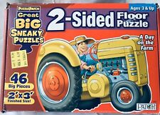 """Puzzle Patch 2-Sided Floor Puzzle """"A Day On The Farm"""""""