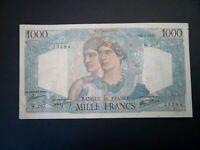 Banknote, France,1946(VF) 1000 Francs.