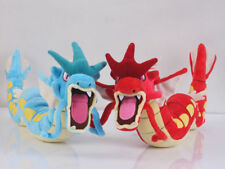 Set of 2 Pokemon Center Gyarados Red and Blue Soft Plush Doll Figure Stuffed Toy