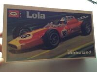 Vintage UPC Lola Indy Race Car Model  Friction Motorized UNBUILT in box 4021-100
