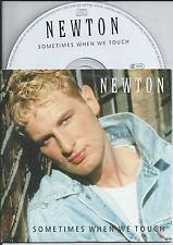 NEWTON - Sometimes when we touch CD SINGLE 2TR EU CARDSLEEVE Hi-Nrg 1997