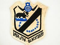 USMC Marine Corps VMA-214 Fighter Attack Sqdn Blacksheep Vietnam War Patch