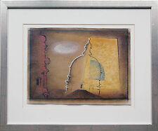 Rudolf ORTNER 1912-1997 BAUHAUS München Theatinerkirche 1979 Pastell Ausstellung