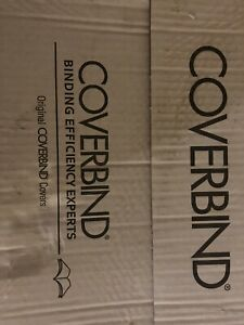 """(90pcs) Coverbind  575301, 1/8"""" Black Clear Linen Thermal Cover"""