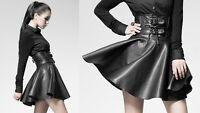 Jupe patineuse courte gothique punk lolita burlesque cuir fashion mode Punkrave