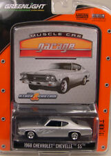 SILVER 1968 CHEVROLET CHEVELLE SS GREENLIGHT 1:64 SCALE DIECAST METAL MODEL CAR