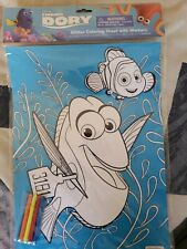 Disney Finding Dory Glitter Coloring Sheet With Markers