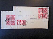 Belgium 1957 Cover w/ Setenant Labels / Cut Address / Cut on 3 Sides - Z4855