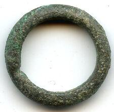 Authentic bronze (22 mm, 5.26 g.) Celtic ring money, 800-500 Bc, Danube Area