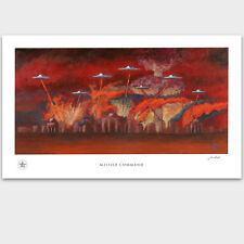 Atari Missile Command UFO Roswell Flying Saucer Artwork Poster Print - PADLO