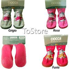 Calze antiscivolo Pantofole bambina ciocca babbucce 21 23 24 26 27 30