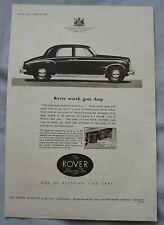 1953 Rover Seventy Five Original advert No.2