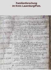 Pommern Lauenburg Leba Familienforschung Genealogie Auswanderungen Amerika
