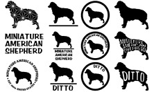 Miniature American Shepherd Mini Aussie Dog Car Wall Vinyl Decal Stickers