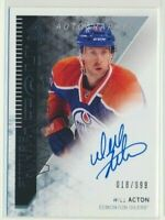 2013-14 SP Authentic Future Watch Rookie AUTO 311 Will Acton /999 Oilers