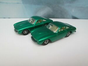 Matchbox/ Lesney 2x 75b Ferrari Berlinetta Green - 1x Superfast - 1x Regular Wh.