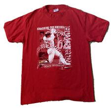 New listing vintage MLB Mark McGwire 1998 St. Louis Cardinals Home Run Record T-shirt XL