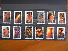 Série complète Fête du timbre (le feu) 2012 (YT 751/762), 12 timbres