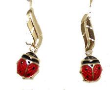 Ladybug Dangle Earrnig 14k Gold Earring - Ladybug Earring Hook Wire Earring