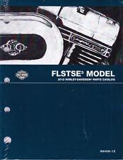 2012 Harley FLSTSE3 CVO Softail Convertible Parts Manual Catalog 99458-12