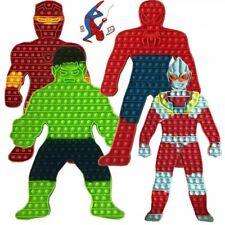 Jumbo Push Pop Bubble It Fidget Toy Spidermann Hulkk Hero Stress Relief Game