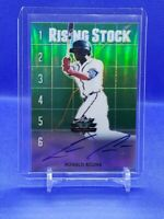 Ronald Acuna Jr. '18 Leaf Valiant Rising Stock Green On Card Autograph Auto SN99