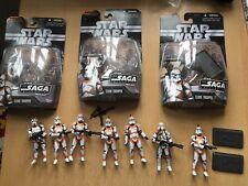 7 STAR WARS THE SAGA COLLECTION Hasbro Clone Trooper figures Utapau